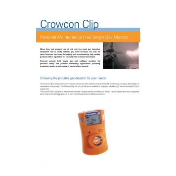 CROWCON Portable Single Gas Detectors
