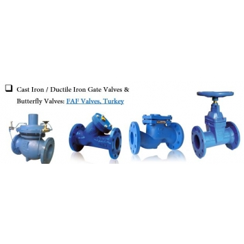 FAF Cast Iron/Ductile Iron & Gate Valves
