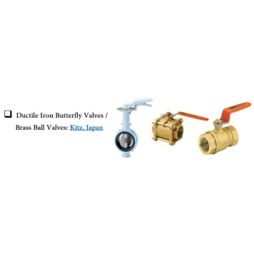 KITZ Ductile Iron Butterfly Vales & Brass Ball Valves