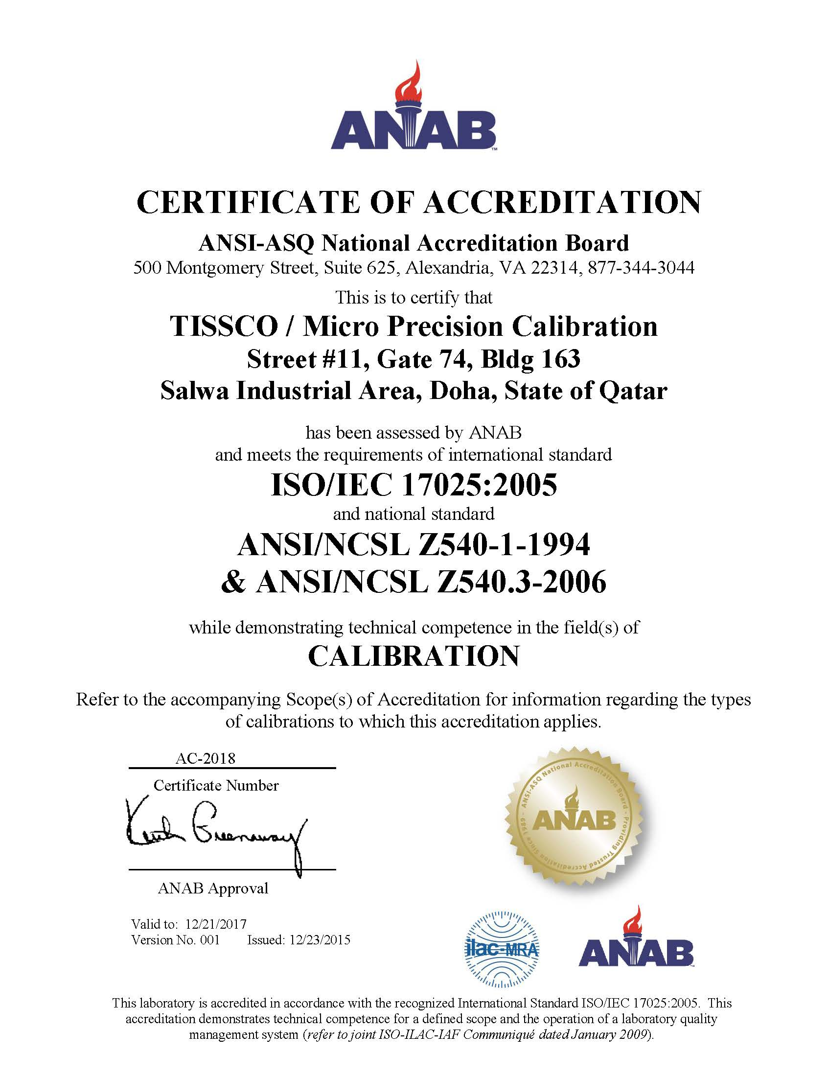 TISSCO Sources Internationally Approved Products With QA Certificate From Its Manufacturers Suppliers