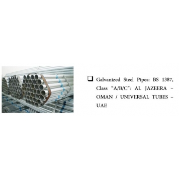 AL JAZEERA STEEL Galvanized Steel Pipes