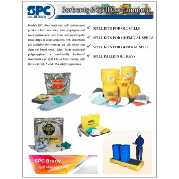 SPC BRADY Emergency Spill Kits - Oil/Chemical